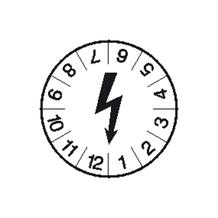 Prüfplakette - Symbol: Schwarzer Blitz