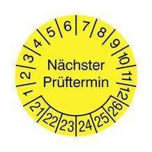 Prüfplakette für Anlagen und Maschinen ø 10 cm - Nächster Prüftermin
