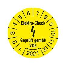 Prüfplakette - Elektro-Check - Geprüft gemäß VDE