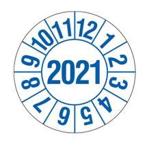 Prüfplakette für Labore und Krankenhäuser - Jahresplakette mit 4-stelliger Jahreszahl