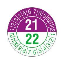 Prüfplakette - Jahresplakette - 2-stellige Jahreszahl - jahresübergreifend