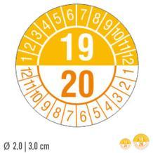 Prüfplakette 2-Jahresplakette mit 2-stelliger Jahreszahl - auf Bogen