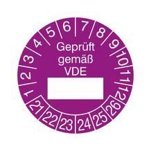Prüfplakette - Geprüft gemäß VDE