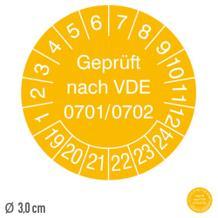 Prüfplakette Geprüft nach VDE 0701/0702 - auf Bogen
