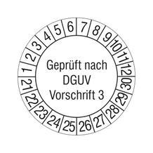 Prüfplakette - Geprüft nach DGUV Vorschrift 3