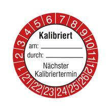 Prüfplakette - Kalibriert am: durch: - Nächster Kalibriertermin