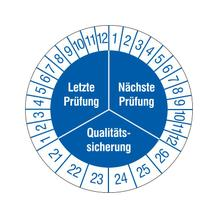 Prüfplakette - Letzte Prüfung - Nächste Prüfung - Qualitätssicherung