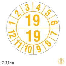 Prüfplakette Prüfplakette Halbjahresplakette mit 2-stelliger Jahreszahl - auf Bogen