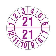 Prüfplakette - Halbjahresplakette - 2-stellige Jahreszahl