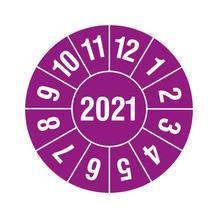 Prüfplakette in Schutzlackierung - Jahresplakette mit 4-stelliger Jahreszahl