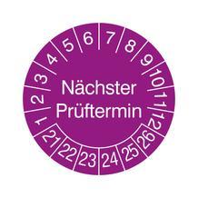Prüfplakette in Jahresfarbe und Schutzlackierung - Nächster Prüftermin