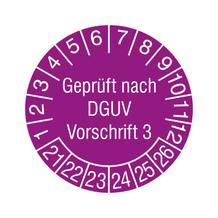 Prüfplakette in Schutzlackierung - Geprüft nach DGUV Vorschrift 3