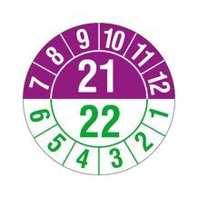 Prüfplakette - Halbjahresplakette - 2-stellige Jahreszahl - jahresübergreifend