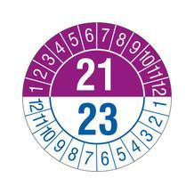Prüfplakette - 2-Jahresplakette - 2-stellige Jahreszahl