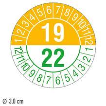 Prüfplakette 3-Jahresplakette mit 2-stelliger Jahreszahl - auf Bogen