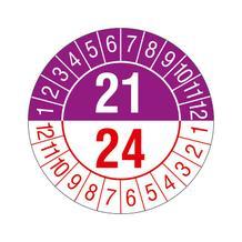 Prüfplakette - 3-Jahresplakette - 2-stellige Jahreszahl