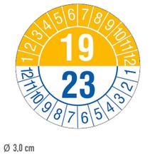 Prüfplakette 4-Jahresplakette mit 2-stelliger Jahreszahl - auf Bogen