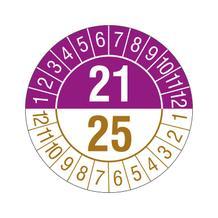 Prüfplakette - 4-Jahresplakette - 2-stellige Jahreszahl