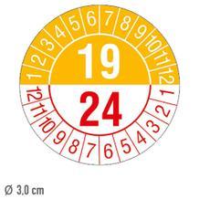Prüfplakette 5-Jahresplakette mit 2-stelliger Jahreszahl - auf Bogen