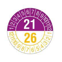 Prüfplakette - 5-Jahresplakette - 2-stellige Jahreszahl