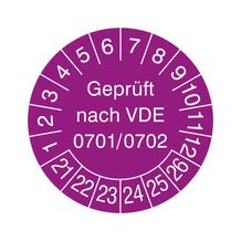 Prüfplakette - Geprüft nach VDE 0701/0702