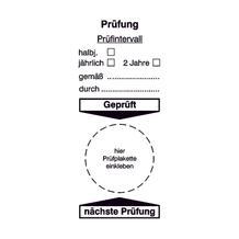 Grundplakette - Prüfung - Prüfintervall ...
