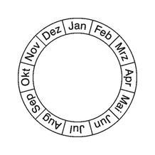 Monatsgrundplakette - Januar - Dezember
