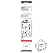 Grundplakette / Gebrauchsanweis. für Anlegeleitern - auf Bogen