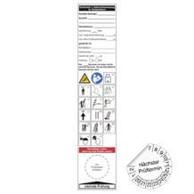 Grundplakette / Gebrauchsanweis. für Schiebeleitern - auf Bogen