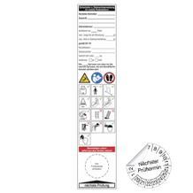 Grundplakette / Gebrauchsanweis. für Potestleitern - auf Bogen