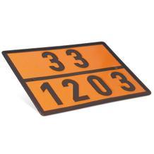 Warntafel - Gefahrgut - Einstofftafel - mit Kemler-Zahl und UN-Nummer nach Wahl