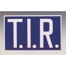 Hinweisschild - Kraftfahrzeuge - T.I.R.-Schild - starr - mit Trennpunkten - 2 Materialien
