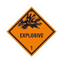 Gefahrzettel (Gefahrguttafel) - verschiedene Klassen - verschiedene Materialien
