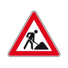 Verkehrszeichen - StVO - Baustelle - 2 Größen