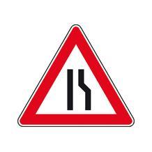 Verkehrszeichen - StVO - Einseitig rechts verengte Fahrbahn - 2 Größen