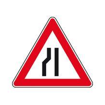 Verkehrszeichen - StVO - Einseitig links verengte Fahrbahn - 2 Größen