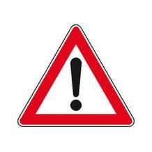 Verkehrszeichen - StVO - Gefahrstelle - 2 Größen