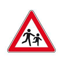 Verkehrszeichen - StVO - Kinder (Aufstellung links) - 2 Größen