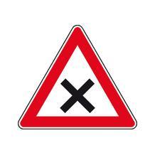 Verkehrszeichen - StVO - Kreuzung oder Einmündung mit Vorfahrt von rechts - 2 Größen
