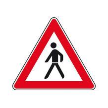 Verkehrszeichen - StVO - Fußgänger (Aufstellung rechts) - 2 Größen