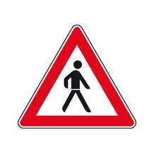 Verkehrszeichen - StVO - Fußgänger (Aufstellung links) - 2 Größen