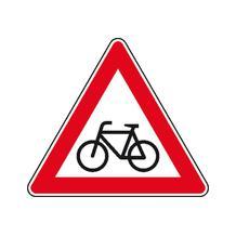 Verkehrszeichen - StVO - Radfahrer (Aufstellung rechts) - 2 Größen