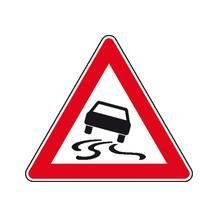 Verkehrszeichen - StVO - Schleudergefahr bei Nässe oder Schmutz - 2 Größen