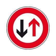 Verkehrszeichen - StVO - Dem Gegenverkehr Vorrang gewähren! - 2 Größen