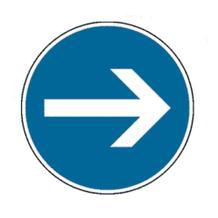 Verkehrszeichen - StVO - Vorgeschriebene Fahrtrichtung - 4 Varianten