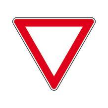 Verkehrszeichen - StVO - Vorfahrt gewähren - 4 Varianten