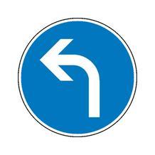 Verkehrszeichen - StVO - Vorgeschriebene Fahrtrichtung links - 2 Größen