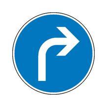 Verkehrszeichen - StVO - Vorgeschriebene Fahrtrichtung rechts - 2 Größen