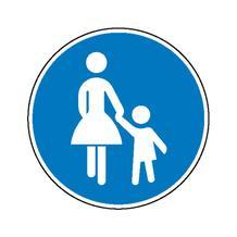 Verkehrszeichen - StVO - Sonderweg Fußgänger - 2 Größen