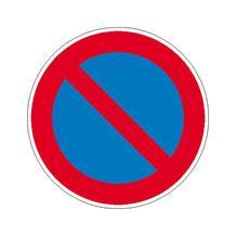 Verkehrszeichen - StVO - Eingeschränktes Haltverbot - 2 Größen